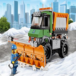 Snow Plowing Truck by Lego